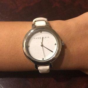 Women's Anne Klein white watch